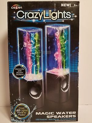 Portable Crazy LED Lights Bluetooth Fun Water Dancing Speakers White Free Ship
