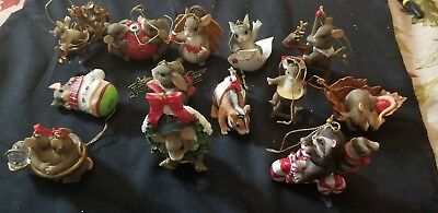 Charming Tails Lot Set of 13 ornaments