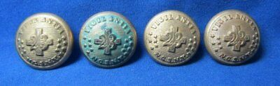 Indian Wars 23rd Infantry New York National Guard Buttons Lot Of 4 by Waterbury