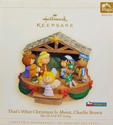 New! Peanuts Gang Hallmark That's What Christmas Is About Charlie Brown Musical!
