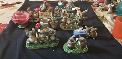 """Charming Tails Lot Set of 10 """"tears/roses style"""""""
