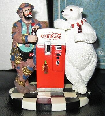 """Emmett Kelly Coca Cola Bear """"Cool Off With Coke"""" Figurine 1995 Number #4279"""