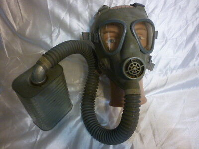 Ww Ii Ww 2 Us Army Service Gas Mask W/canister & Canvas Pouch /bag Carrier Wwii
