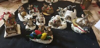 """Charming Tails Lot Set of 10 """"xmas style"""""""