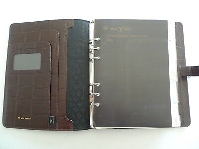 Mulberry -  Leather  Planner With Many Inserts--Made In England