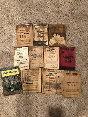 Vintage John Deere, McCormick-Deering, Harvester International, Case Manual Lot