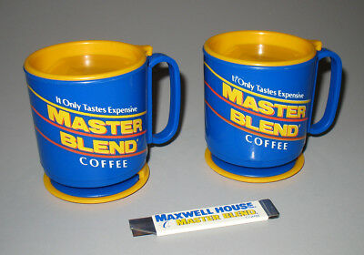 Maxwell House Master Blend Coffee Whirley Travel Mugs Lot Vintage
