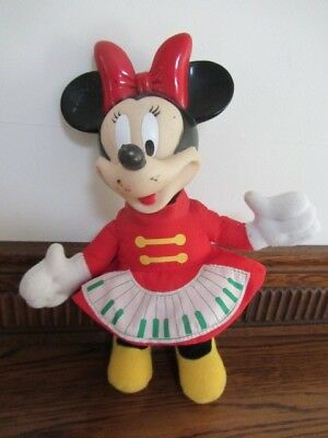 Vintage Minnie Disney Minnie Mouse plastic head soft body