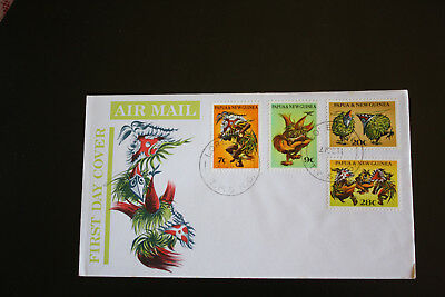 PAPUA NEW GUINEA FIRST DAY COVER WAR MASKS 1971 #sfc63b