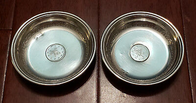 800 Silver Turkish Small Coin Dish - Set Of 2