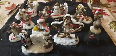 """Charming Tails Lot Set of 10 """"bell xmas style"""""""