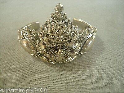 Rahu Thai Amulet Buddha Talisman Rich Wealth Magic Lucky Bangle Bracelet