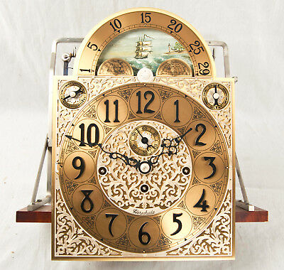 Herschede 9 tube grandfather clock movement only @ 1970s Original Rare Dial!