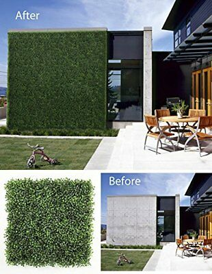ULAND 12 Piece Artificial Boxwood Decorative Fence Faux, Ivy Leaf Hedge Privacy
