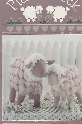 """Primitive 13"""" and 16"""" Lamb Doll Pattern by Plum Creek"""