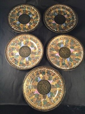 Vintage Japanese Nippon Plates Hand Painted Made In Japan