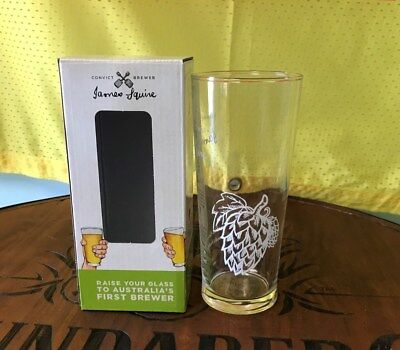 JAMES SQUIRE Glass Tumbler Ship OR Acorn Pattern Boxed BRAND NEW FREE POST