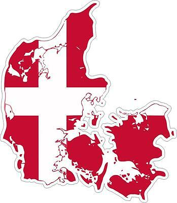 Sticker adhesive car vinyl flag card denmark