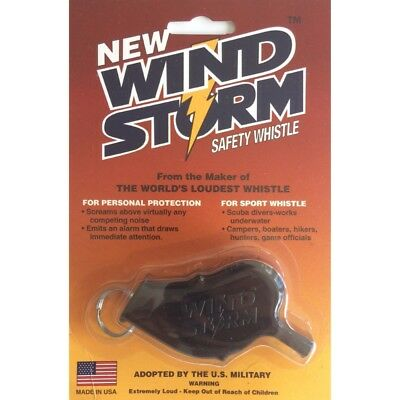 WIND STORM Safety Whistle Worlds Loudest Whistle NEW Under Water Dive windstorm
