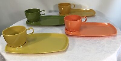 Set of 4 Vintage Nally Ware Tennis Sets