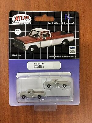 N Scale 1/160 Atlas Ford F-100 Undecorated - New - Pack Of 2