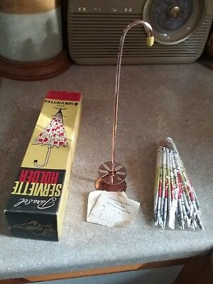 Vintage Retro Parasol Serviette Holder With Box great Christmas gift