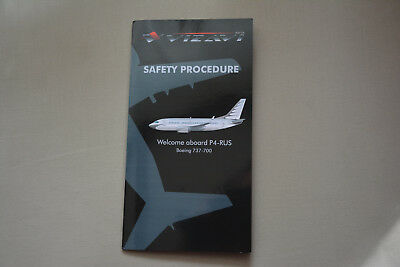 Safety Card AVIA Boeing 737-700