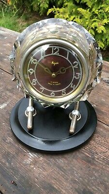 Beautiful Antique Vintage USSR Russian Mantle Clock In Working Order 11 Jewels *