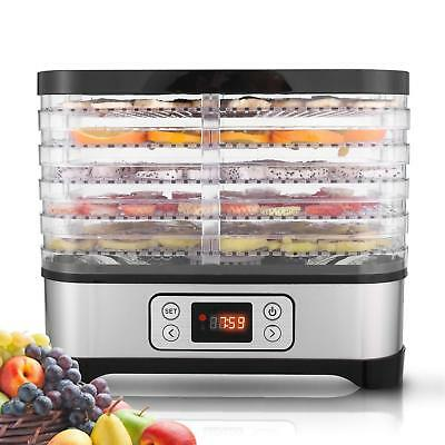 Digital Food Dehydrator Dryer 5 Tray Fruit Preserve Beef Jerky Dry BPA Free NEW