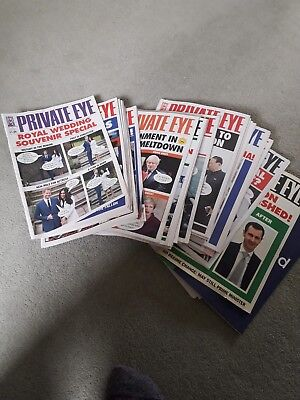 Collection Of Over 40 Private Eye Magazines From 2017 and 2018