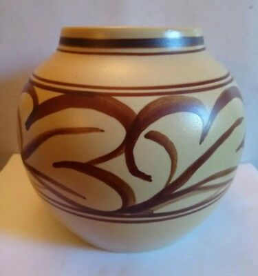Bullers Studio Pottery Vase by Agnette Hoy. Substantial size !! .Number 286