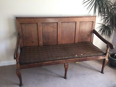 18th Century Georgian Oak Panelled Settle