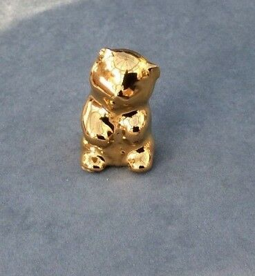 Wade Whimsies Gold Bear Cub - Trentham Gardens Fair piece 2000 Perfect Condition