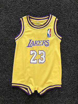 🇦🇺 AU STOCK new Baby Infant NBA Romper Jumpsuit Jersey Lakers #23 James