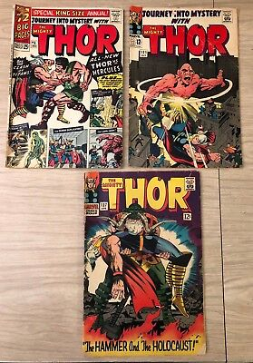 JOURNEY INTO MYSTERY SILVER AGE COMIC LOT Stan Lee Jack Kirby HERCULES!