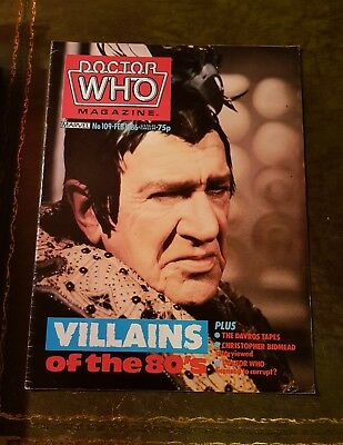 Doctor Who Magazine #109 Feb 1986 Dr.who Bbc Marvel Mag Drwho Dr Who Classic Oop