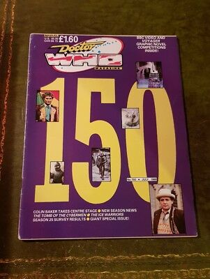 Doctor Who Magazine #150 Jul 1989 Dr.who Bbc Marvel Mag Drwho Dr Who Classic Oop