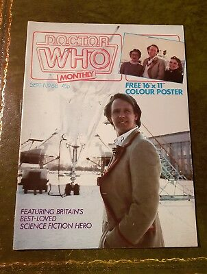 Doctor Who Magazine #68 Sep 1982 Dr.who Bbc Marvel Mag Drwho Dr Who Classic Oop