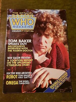 Doctor Who Magazine #92 Sep 1984 Dr.who Bbc Marvel Mag Drwho Dr Who Classic Oop