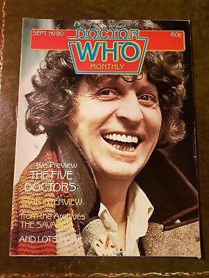 Doctor Who Magazine #80 Sep 1983 Dr.who Bbc Marvel Mag Drwho Dr Who Classic Oop