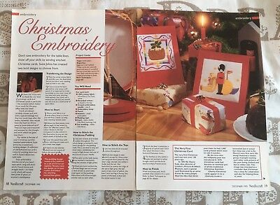 Embroidery Charts - Christmas Embroidery - Xmas Pudding, Toys