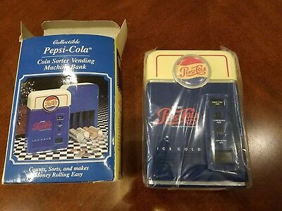 1996 PEPSI-COLA Plastic Coin Sorter Counter Bank by PepsiCo