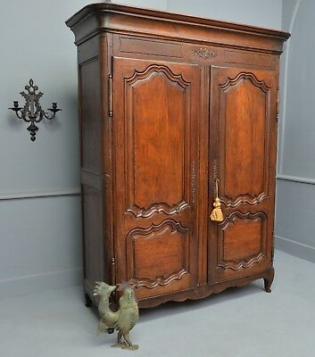 Very Sweet Small 18thc French Walnut Armoire Cabinet