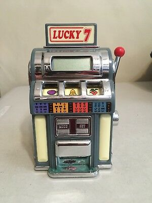 """Novelty Lucky 7 Mini 6"""" Tabletop Slot Machine by Marksman PF Product"""