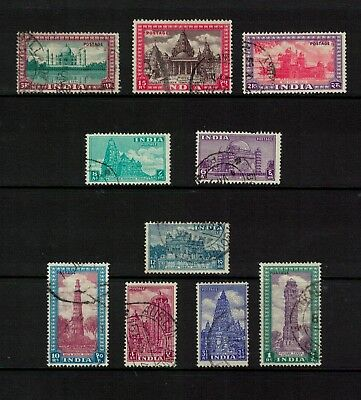 India stamps 1949 higher value definitives including 15r sg324 - all good/fine