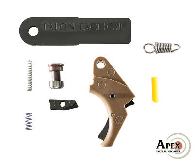 Apex Tactical S&W M&P 2.0 Polymer Trigger & Duty/Carry Kit - FDE w/ Black Safety