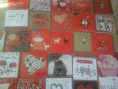 25 Valentine's Cards, Wholesale Joblot Greeting Cards