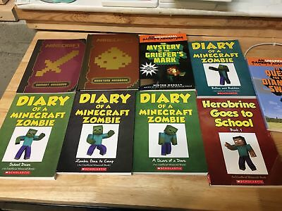 Lot of 9 Assorted Minecraft Books