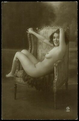 1910 Original French RPPC Nude Voluptuous Delicate Girl Beauty Jean Agelou