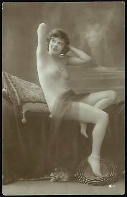 1910 Original French RPPC Nude Voluptuous Delicate Girl Beauty Lingerie